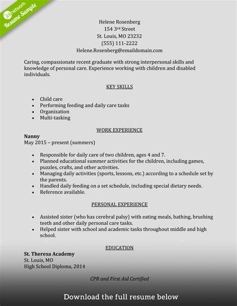 Resume Objective Caregiver How To Write A Caregiver Resume Exles Included