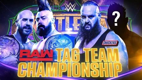 match card template tag team wrestlemania 34 the bar vs braun strowman