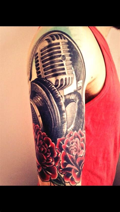 microphone retro tattoo 17 best images about microphone tattoo on pinterest