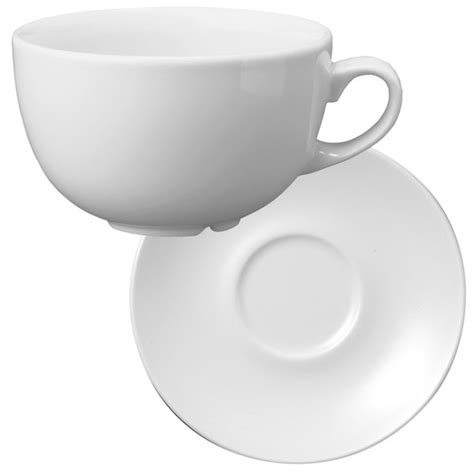 Cappuccino Cups by Churchill White Beverage Cappuccino Cup And Saucer