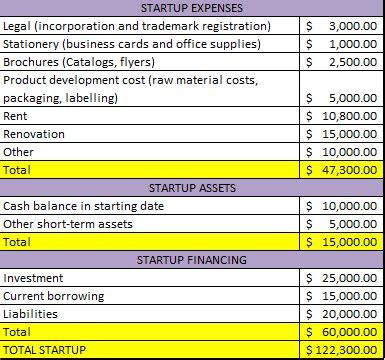 business plan costs financial plan kansh993
