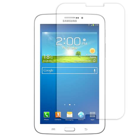 Samsung Galaxy Tab 3 7 0 P3200 Clear Screen Guard quality clear screen protector cover for samsung