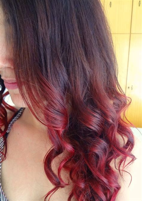 steps to doing burgundy hair with brown and caramel highlights 9 best images about my dark brown burgundy red ombre hair