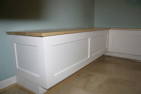 kitchen breakfast  dining room banquette bench booth