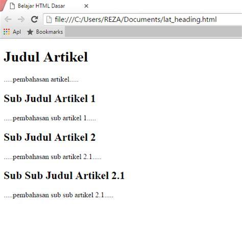cara membuat judul essay cara membuat judul atau heading di html kuy belajar