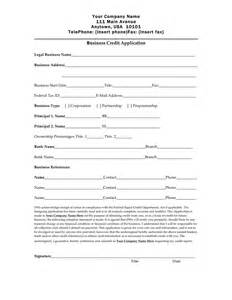 Generic Credit Application Form Business Credit Application Form Free Documents For Pdf Word And Excel