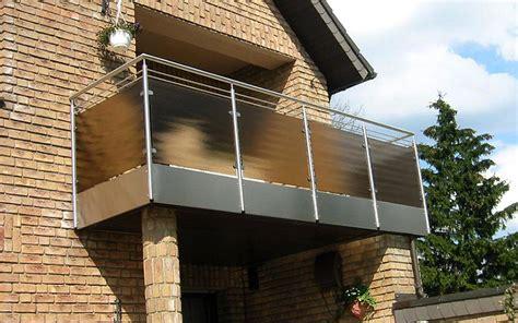 edelstahl balkongeländer mit glas vorbaubalkone und balkongel 228 nder eggersmann metallbau