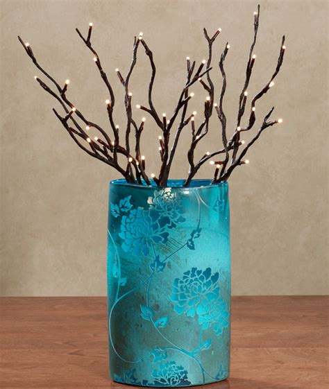 Branches Home Decor Lighted Willow Branches Modern Home Decor By Touch Of Class