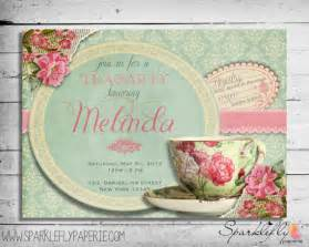 Shabby Chic Baby Clothes by Bridal Shower Invitations Bridal Shower Tea Party