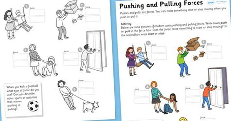 And Motion Worksheets by Worksheets For And Motion Grade