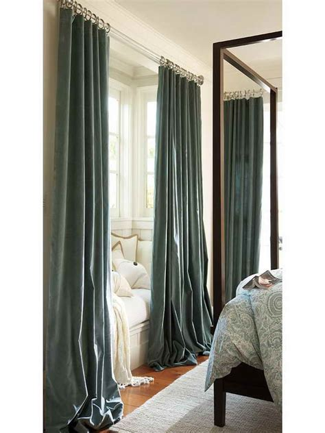 decoration gray long length curtain for bedroom long