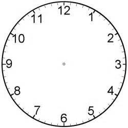 Clock Template by Analog Clock Template Clipart Best