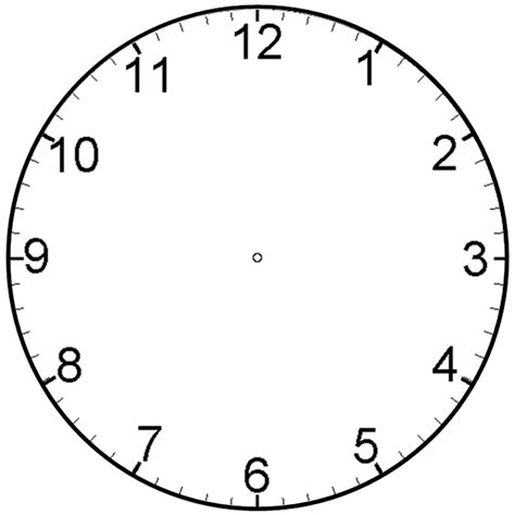 printable clock face template clipart best