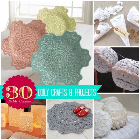 Doily Paper Craft - 30 diy doily crafts oh my creative