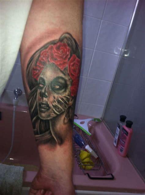 tattoo menai day of dead zombie girl tattoo