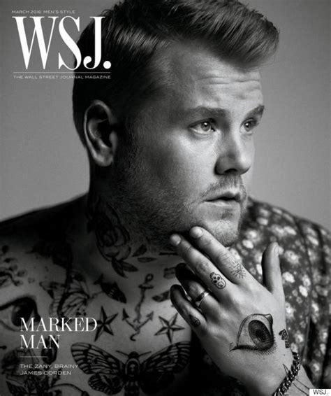 james corden tattoos corden poses for harry styles inspired tattooed