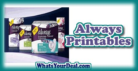 printable grocery coupons wow wow 1 50 1 always pads plus all the current always