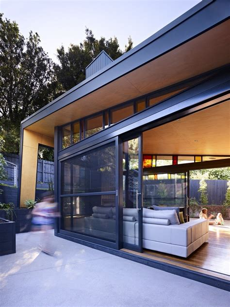 untamed geometry showcased by modern house exterior in untamed geometry showcased by modern house exterior in