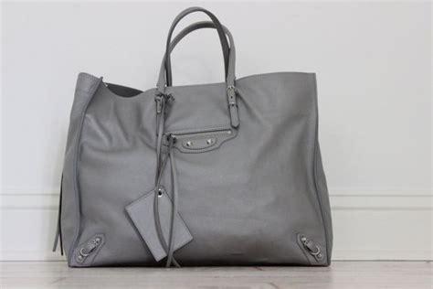 Balenciaga Metal Front Tote by Balenciaga Papier A4 Zip Around Tote Metal Grey