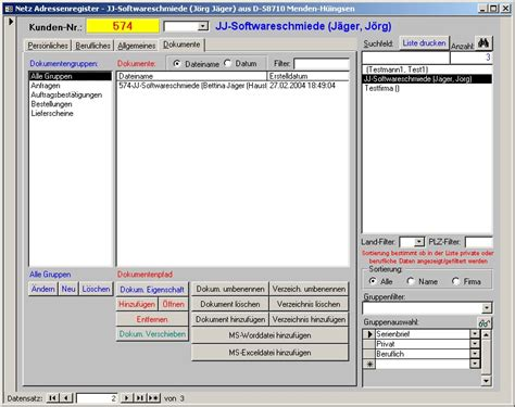 jj software adressverwaltung adressen access