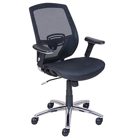 Officemax Chair by Serta Galaxy Ergonomic Mid Back Mesh Chair Black By Office