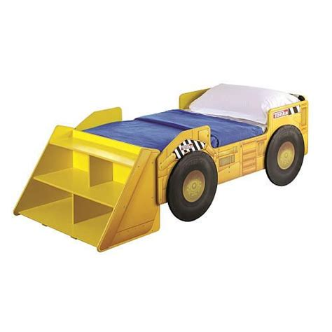 tonka bed tonka truck toddler bed with storage shelf toddler bed