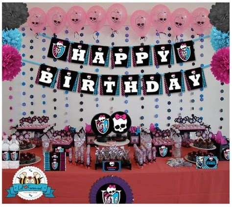 monster high printable party decorations monster high birthday party printable decorations