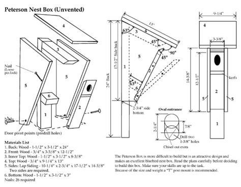 eastern bluebird nest box plans quotes