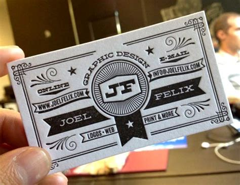 25 beautiful cool letterpress business card design for