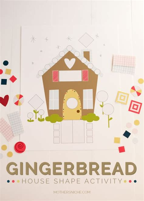 gingerbread house printable activities gingerbread house shape activity activities and shape