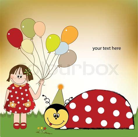 free printable birthday cards ladybugs happy birthday card with ladybug stock vector colourbox