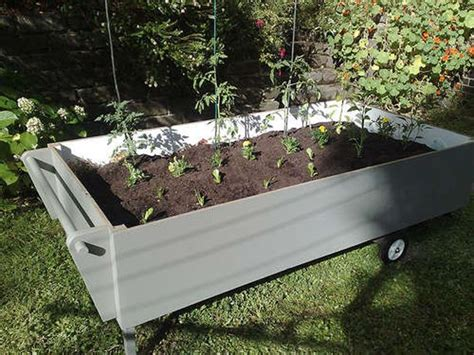 rolling raised garden beds 17 best images about mobile garden ideas on