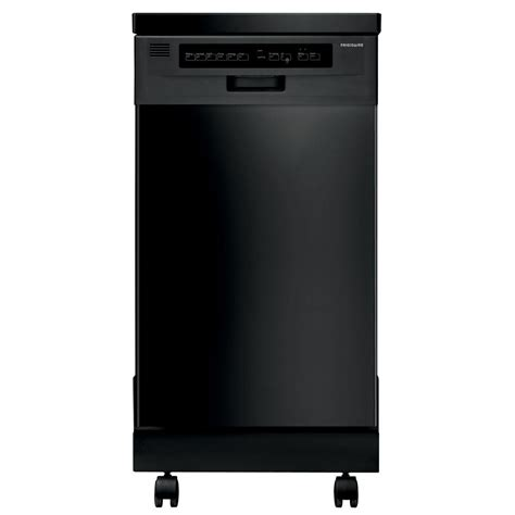 frigidaire 18 in portable dishwasher in black with