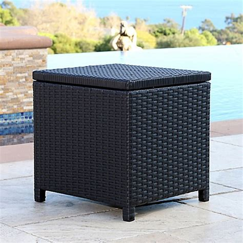 bed bath and beyond carlsbad abbyson living 174 carlsbad outdoor wicker patio storage