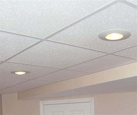 Basement Ceiling Tiles Drop Ceilings Recessed Lighting In A Drop Ceiling