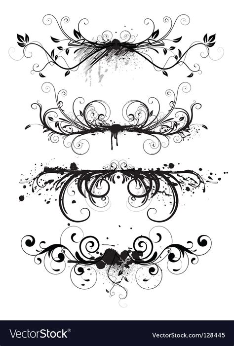 floral grunge frame elements royalty free vector image grunge floral elements royalty free vector image