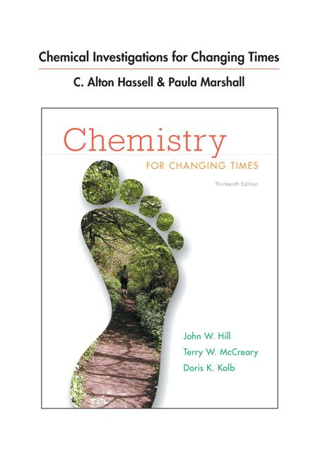 chemistry for changing times 14th edition hill mccreary kolb hassell marshall chemical