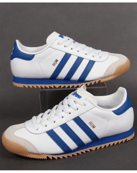 Adidas Rom Black Original adidas rom trainers white blue originals