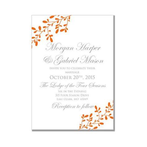 Fall Wedding Invitations by Fall Wedding Invitation Printable Quot Fall Quot Diy Wedding