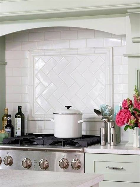 kitchen tile designs behind stove deductour com subway tile backsplash with herringbone pattern behind