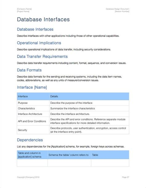 document database template database design apple iwork
