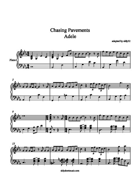 download mp3 adele should i give up adele chasing pavements piano sheet music free