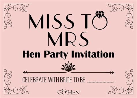 hen party invitations funky retro hen invites