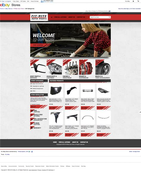 free ebay templates html free ebay templates html fit rite auto parts and eye catching ebay template