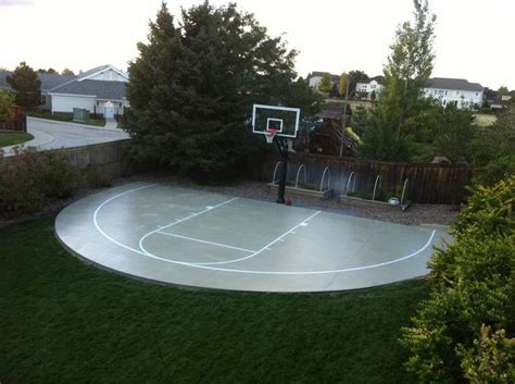 backyard basketball hoop finally the construction of the backyard basketball court