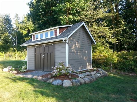 nice   landscape   raised shed outdoor