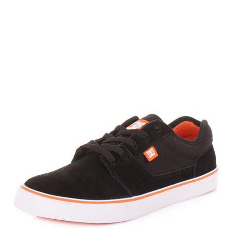 Dc Casual Suede Skate mens dc tonik black blazing orange casual suede skate