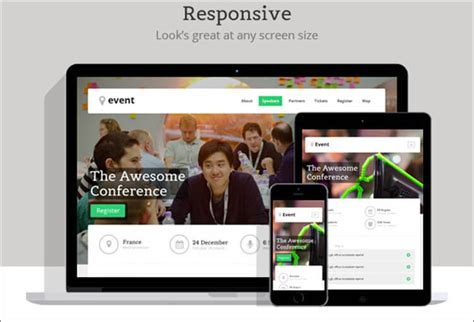 event landing page templates themes free premium