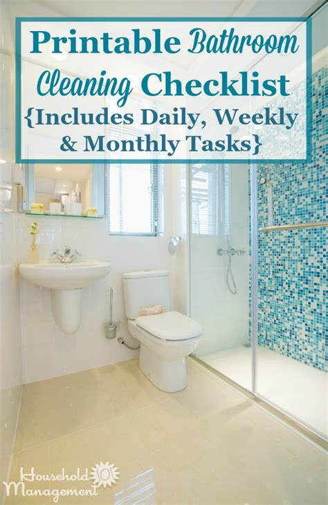 Clean Bathroom Everyday Bathroom Cleaning Checklist List For Cleaning The