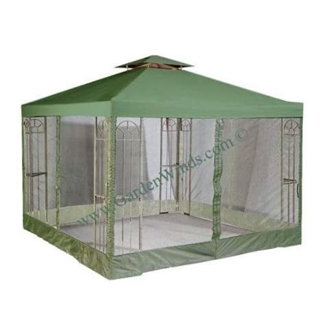 10 X 10 Universal Replacement Canopy Two Tiered by Garden Winds Universal Green 10 X 10 Two Tiered